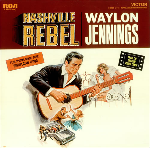 Waylon Jennings Nashville Rebel Usa Vinyl Lp Record Lsp