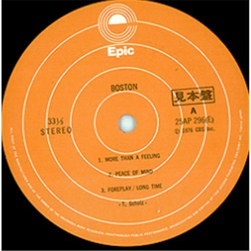 boston boston japan promo vinyl lp record 25ap296 boston boston 25ap296 epic. Black Bedroom Furniture Sets. Home Design Ideas