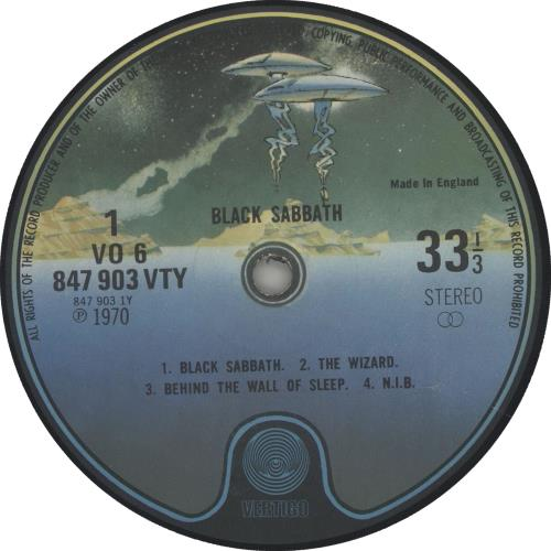 Black Sabbath Black Sabbath Spaceship Label Uk Vinyl Lp