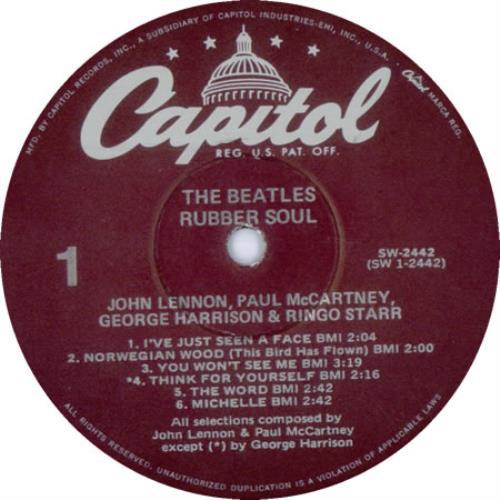 The Beatles Rubber Soul 1978 1983 Purple Label Usa Vinyl