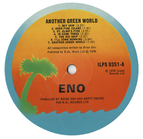Brian Eno Another Green World 1st Uk Vinyl Lp Record Ilps9351