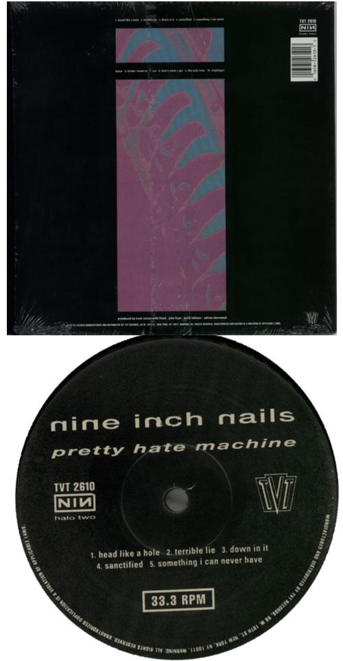 Nine Inch Nails Pretty Hate Machine USA Vinyl LP Record TVT2610 ...