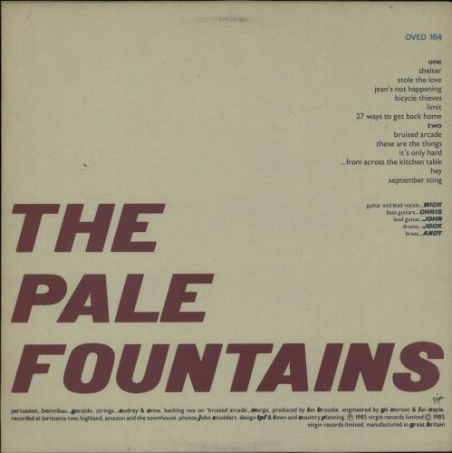 The pale fountains from across the kitchen table uk vinyl lp price info watchthetrailerfo